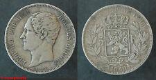 Belgique ! Ecu de 5 francs LEOPOLD PREMIER 1849 tête nue, en TB+