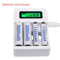 4 Slot Battery Charger  LCD  Dsiplay for AA,AAA,NiCd,NiMh Rechargeable Batteries