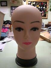 Plastic Realistic Female Mannequin Head Display Wig Hat Jewelry