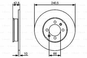 0 986 479 478 Bosch Brake Disc for MG