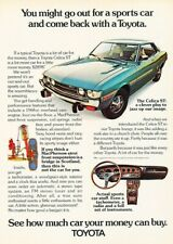 1973 Toyota Celica Original Advertisement Print Art Car Ad D76