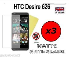 3x Hq Mate Anti Glare Screen Protector Funda Film Protector Para Htc Desire 626