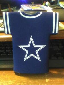 Lot of 4 Dallas Cowboys Bottle Jersey Beer Holder Can Cooler Sleeves NEW