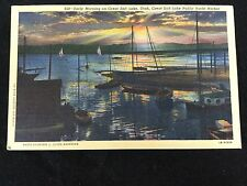 1944 Great Salt Lake Public Yacht Harbor, UT postcard