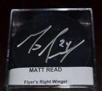 Matt Read Philadelphia Flyers Autographed Black Puck -- FREE SHIPPING