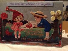 Original Valentine Art Collage Card.OOAK