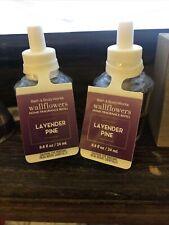 2 Bath & Body Works Wallflowers Home Fragrance Refill Bulb - Lavender Pine