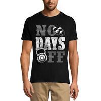 ULTRABASIC Homme T-shirt No Days Off - Pas de jours de congés