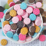 16mm Multi-colour Resin Biscuit Cabochons Flatbacks Round Shaped Craft Decor 10x