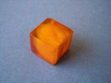Antiker Würfel Natur Bernstein Anhänger Butterscotch Honig 4,2 g Amber