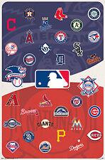 MLB Baseball Universe ALL 30 TEAM LOGOS Official WALL POSTER