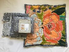 Anthropologie Witherbee Pair of Standard Shams + One Euro Sham