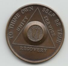 VI -  6 Years - Alcoholics Anonymous AA back recovery medal token chip coin