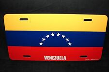 VENEZUELA FLAG NOVELTY LICENSE PLATE FOR CARS  BANDERA DE VENEZUELA