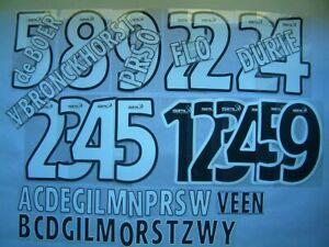NOME+NUMERO-lettere UFFICIALE RANGERS H/A 1999-2007 OFFICIAL NAMESET-letters