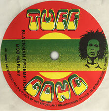 Bob Marley. Blackman Redemption record label vinyl sticker. Reggae. Tuff Gong