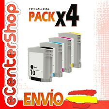 4 Cartuchos de Tinta NON-OEM 10/11 - HP Officejet Pro K850 DN