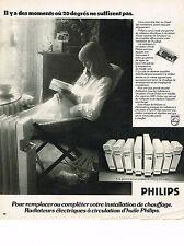 PUBLICITE ADVERTISING  1974   PHILIPS   radiateur éléctrique