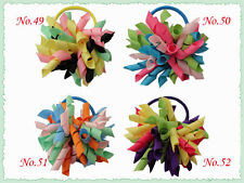 100 Blessing Good Girl Boutique 3 Inch Corker Hair Bow Pony Elastic 72 No.