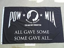 3'X5' US/U.S./  AMERICAN POW MIA  ALL GAVE SOME SOME GAVE ALL FLAG 3X5