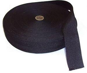 "Carpet edge binding trim BLACK webbing 2"" wide for RUGS & CARPET MATS"