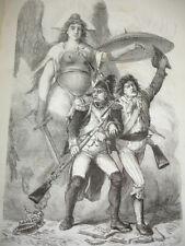RÉVOLUTION FRANÇAISE  A.Thiers Vol in-4 1861 relié cuir, illustré