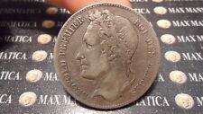 BELGIO BELGIQUE BELGIUM 5 FRANCHI FRANCS SILVER ARGENTO ARGENT 1849