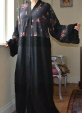 DOLCE & GABBANA Runway Black Floral Abaya Lace Kimono Dress New tag 42 Med 4450!