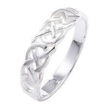 Markenlose Ringe Echtschmuck im Band-Stil aus Sterlingsilber für Damen
