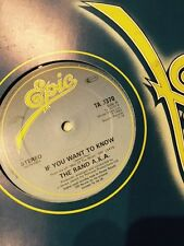 "The Band AKA - If You Want To Know 12"" Single"