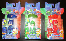 PJ MASKS FIGURES LIGHT UP SET WITH AMULET BRACELETS  OWLETTE  GEKKO CATBOY