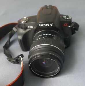 Sony Alpha 230 mit 3 Objektiven