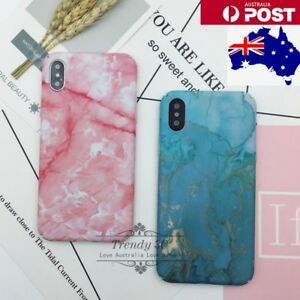 IPhone 6 6S 7 8 Plus X Xs Marble Pattern Funny Hard Fashion Bling Case Cover