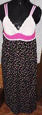 Roos verano vestido vestido rosa negro geblümt croché talla 164 única