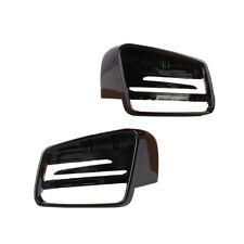 L & R Black Door Mirror Cover Cap For BENZ C E S GL Class W204 W212 W221 CLA GLA