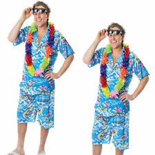 Adults Hawaiian Mans Costume Costume Hawaii Tropical Beach Magnum Fancy Dress