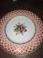 "Rose Wreath Fitz And Floyd 9"" Plate"