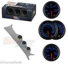 99-07 Ford SuperDuty GSBlack 7Color Boost,TransTemp&2400F EGT Gauge Set&Gray Pod