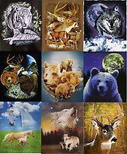Wildlife Fleece Throw Blanket Wolf, Bears, Dolphins, Horses, Eagle, Cats, Animal