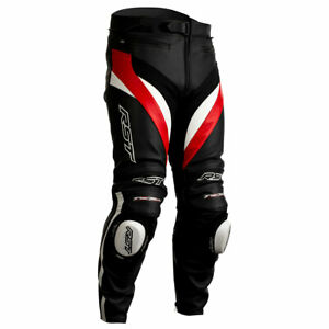 RST Tractech Evo 4 CE Motorcycle Motorbike Leather Trouser Black / Red / White