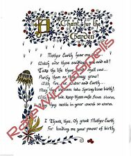 Blessing Chant for the Garden Spell Wicca Book of Shadows Pagan Occult Ritual