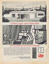 PUBLICITE ADVERTISING 094 1957 GIMM portes et fenêtres