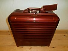 Rimowa Salsa Delux Red Trolley Wheels Carry-On Spinner Suitcase Luggage EUC