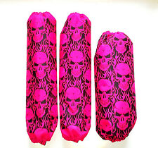 Shock Covers Arctic Cat DVX 400 Pink Skulls ATV Set of 3