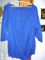 leichte Damen Carmen Bluse blau Gr. 44 46 48 L XL