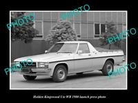 OLD LARGE HISTORIC PHOTO OF 1980 HOLDEN WB KINGSWOOD UTE LAUNCH PRESS PHOTO 2