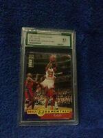 1997 collector's choics int;l#195 michael jordan (fund) cards grade a 9.0 mint
