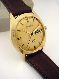Excellent Vintage 1971 (N1) BULOVA Automatic 11ANACB Whale Day/Date Killer Dial