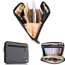 Multi Organiser Carry Bag iPad, Tablets, Hard Drives Portable Pouch Bag - Grey