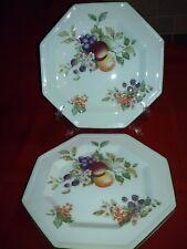 "2pcs Johnson Brothers ""Fresh Fruit"" Pattern 7 1/2"" Salad Plates, no chips/cracks"